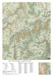 White Mtns 4000-Footers – 3D Mountain Map 0036