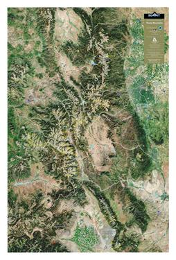 3D Orbital Image Map -- Colorado Rocky Mtns 0008