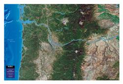 Portland - Pacific Northwest – 3D Orbital Image Map 0032