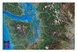 Seattle - Pacific Northwest – 3D Orbital Image Map 0031
