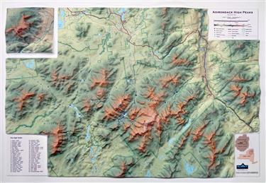Adirondack High Peaks 3D Mountain Map 0051