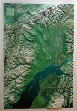 Anchorage Amp Alaska Range 3d Earth Image Map Summit Maps