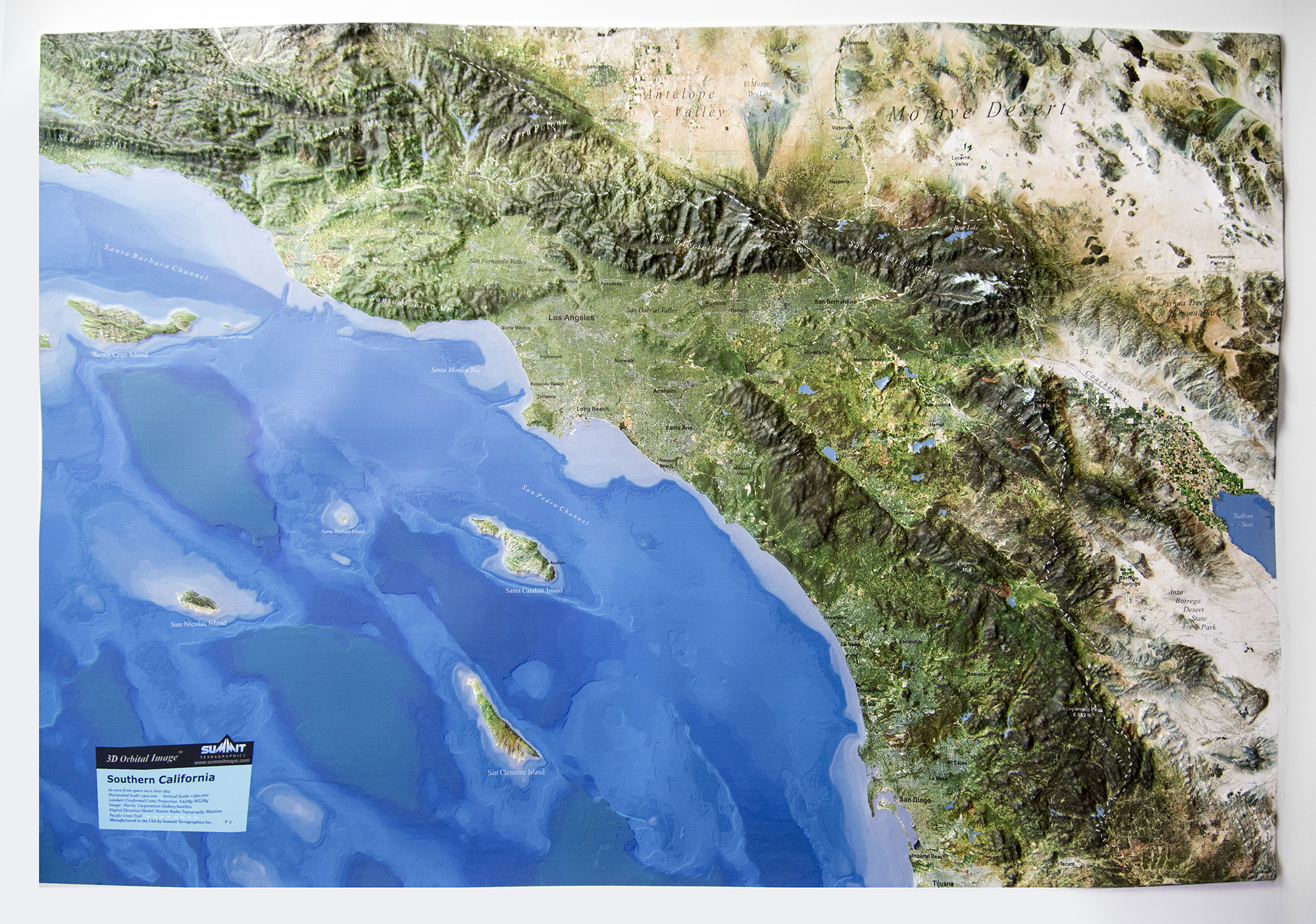 southern california 3d earth image map summit maps