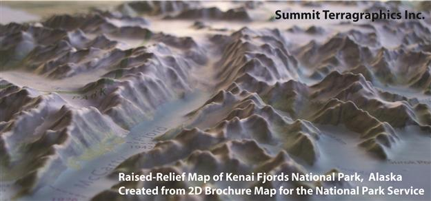Custom RaisedRelief Maps Summit Maps - Us raised relief map