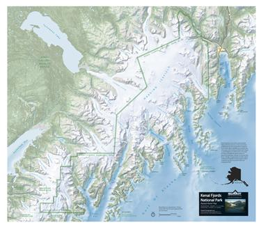 CookLowery15 Ella Map of Kenai FjordsTopographic or Relief