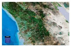 San Diego County – 3D Earth Image Map 0033