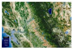 Central California & Northern Sierra – 3D Earth Image Map 0006