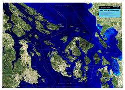 San Juan & Gulf Islands – 3D Earth Image Map 0010