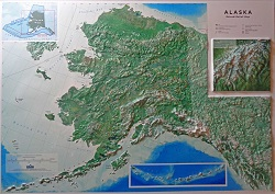 Alaska State 3D Earth Image Map 0052