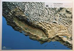 California State 3D Earth Image Map 0060