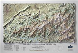Great Smoky Mountains National Park 3D Trail Map 0041