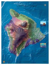 Big Island of Hawaii – Historical Raised-Relief Map 0043