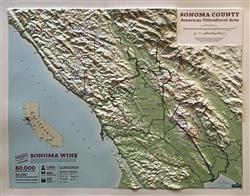 Sonoma County Wine Growing Regions 3D Map 0055