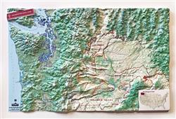 Washington State Wine - Small 3D Map 0057