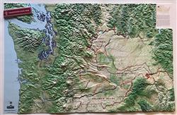 Washington State Wine - Large 3D Map 0058
