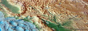 3D US Map - Geophysical  Version
